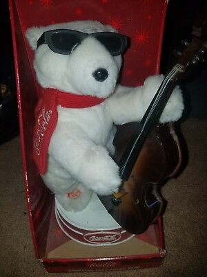 1971 coca cola animated jazz polar bear never opened, great condition