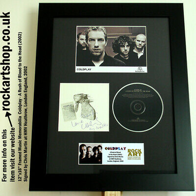COLDPLAY A Rush of Blood to the Head SIGNED CHRIS MARTIN LONDON 2002 Autograph