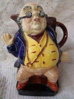 Burleigh Ware Jug Creamer Pitcher Mr Pickwick Dickens E T Bailey England MINT!