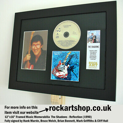 THE SHADOWS Reflection SIGNED BY HANK MARVIN+BRUCE+BRIAN+MARK+CLIFF Autographed