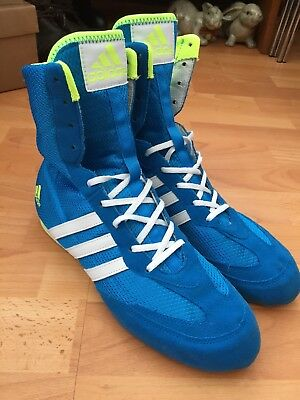 Adidas Box Hog 2, Blue/White, Boxing Boots, UK7.5, Good Clean Condition