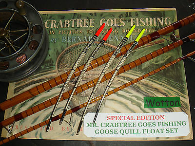 """mr Crabtree"" Special Edition - Goose Quill Float Set Red/yellow"