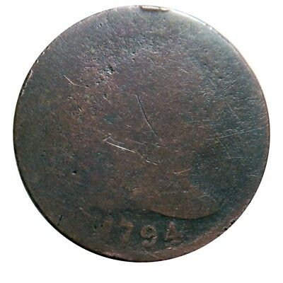 Large cent/penny 1794 worn cull with super clear date