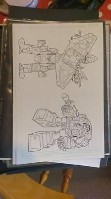 Commissioned but unused Transformers Armada Thrust and Inferno Artwork