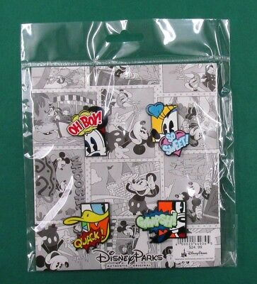 Disney Pin Mickey and Friends Comic Book Booster Set of 4 Trading Pins *NEW*