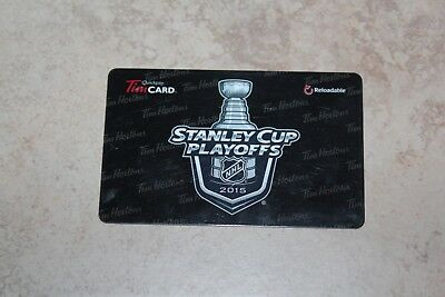 Tim Hortons Stanley Cup Playoffs 2015 Gift/tim Card New Fd46792 Cad Empty
