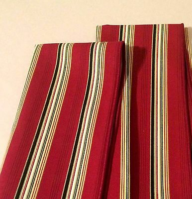 Longaberger Fabric NAPKINS Set of 2 - HOLIDAY STRIPE -  Christmas - NEW!
