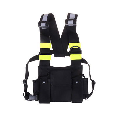 Nylon two way radio pouch chest pack talkie bag carrying case for uv-5r 5ra *tr