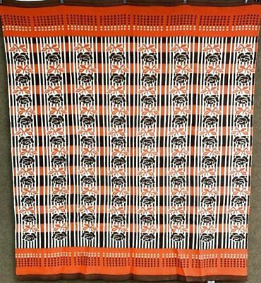 Farmhouse PA Vintage Camp Blanket BROWN Cheddar 70 x 80 NEVER used #1
