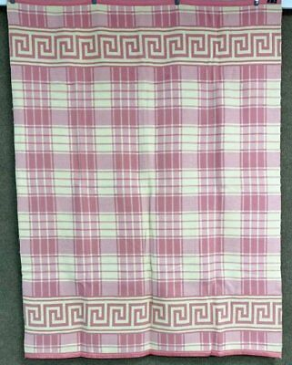 Farmhouse PA Vintage Camp Blanket Pink Cream NEVER used 77 x 58