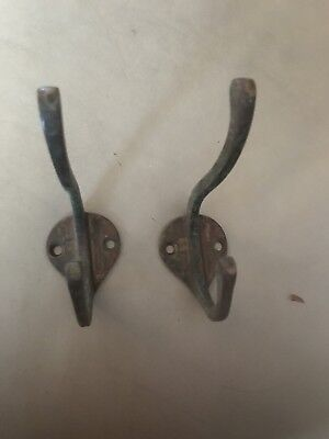 Vintage Matching Pair Of Metal Hooks