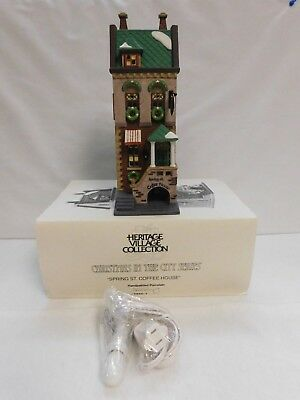 Dept. 56 ~ Christmas In The City Series  ~ Spring St. Coffee House ~ #58807