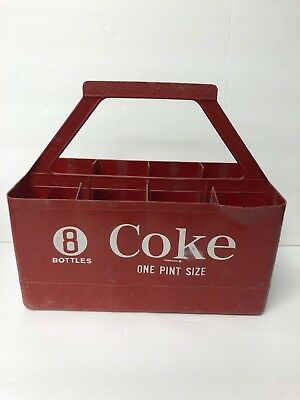 Vintage Coca-Cola 8-Pack 16 oz. Plastic Carrying Case, Good Condition See Photos