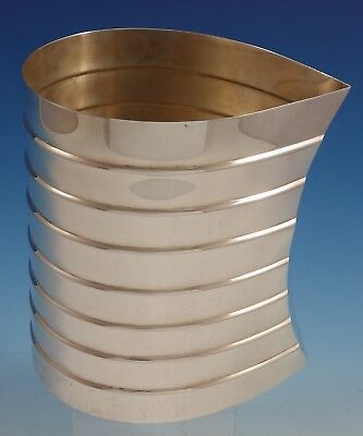 Pampaloni Italian Sterling Silver Wine Cooler Ribbed with Leaf Design (#3056)