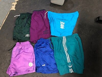 Vintage Short Lot Of 6 Nike Umbro Puma Adidas 80S 90S USA Made