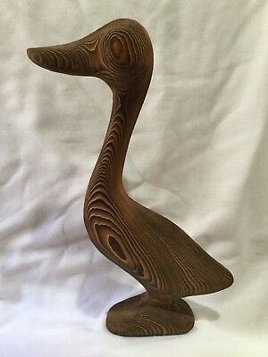 Hand Crafted Canadian Wood Carving Canada Goose Duck Bird Abstract Figure