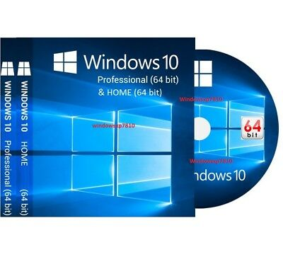 WINDOWS 10 PROFESSIONAL 64-BIT + HOME Bootable Install DVD Full Version Repair