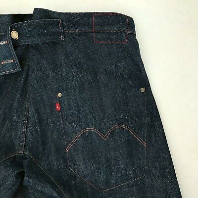 Super Rare Levi's RED Label '1ST GIANT' 2002 Edition Twisted Engineered Jeans 34