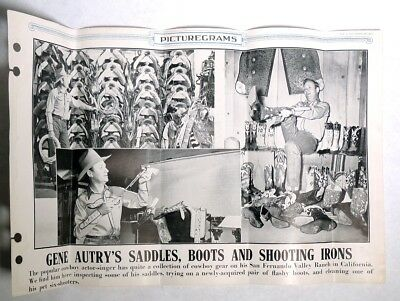 ESZ9162. GENE AUTRY Saddles, Boots & Shooting Irons PICTUREGRAM POSTER 1947