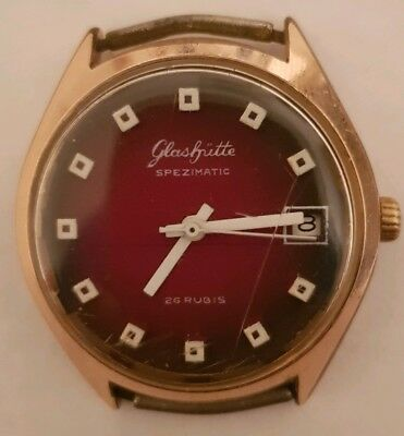 Glashütte 26 Rubis Spezimatic GUB Vintage Uhr watch made in Germany