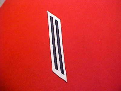 """1 stripe Red Embroidered  5 1//4/"""" EM Hashmarks US Navy Female 4 Years"""