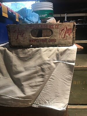Vintage Wooden Soda Crate Seven Up 7-Up Wood Fresh Up Napoleon OH