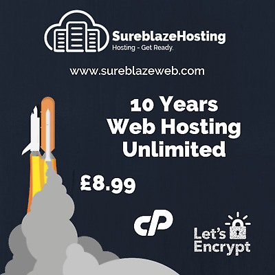 10 Years Web Hosting *UNLIMITED* Support Included.