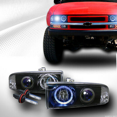 8K Hid Xenon Blk Halo Projector Headlight Parking Ks 1998-2004 S10 Pickup Blazer