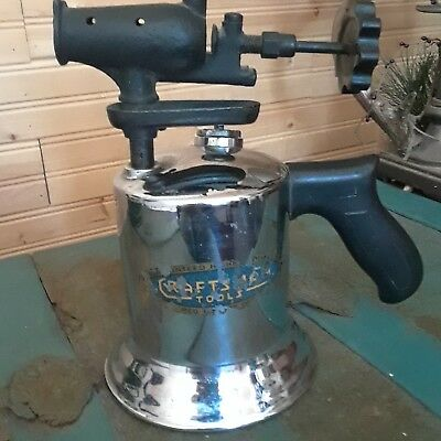 Craftsman vintage Chrome Gasoline Blow Torch - Steam Punk - Antique Hand tools