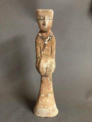 A Large Ancient Chinese Han Dynasty Pottery Court Figure 200BC