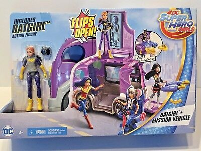 Mattel DC Super Hero Girls Batgirl Action Figure Vehicle Playset Van