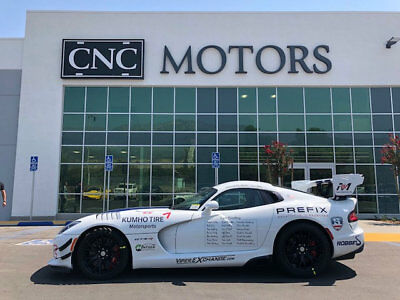 2017 Dodge Viper GTC Coupe 2017 Dodge Viper GTC Coupe White Clearcoat  83 Miles ACR Collector Grade