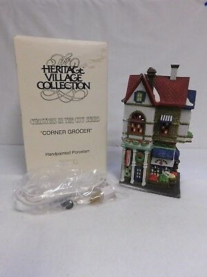 Dept. 56 ~ Christmas In The City Series  ~ Corner Grocer ~ Building ~ #59706