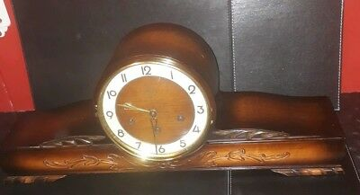 LARGE Antique ART DECO Mantel Clock JUBA GUFA,Schatz Germany,WESTMINSTER Chime