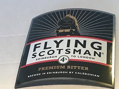 CALEDONIAN FLYING SCOTSMAN  BITTER  BEER PUMP CLIP USED LOCO TRAIN sign free P&P
