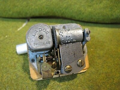 Vintage LADOR SWITZERLAND Music Box Mechanism untested