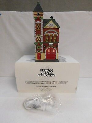 Dept. 56 ~ Christmas In The City Series  ~ Red Brick Fire Station ~ #55360