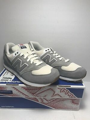 6c11762d712 NEW BALANCE MENS Size 8.5 574 Retro Sport Running Shoes Grey Silver ...