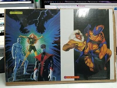 Rare 1995 X-Men Poster- Wolverine, Sabretooth, Phoenix, and More