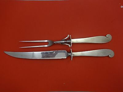 Pattern Unknown by Porter Blanchard Sterling Roast Carving Set 2pc HHWS  14""