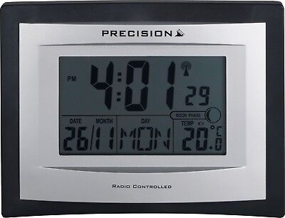 Precision Radio Controlled Digital LCD Wall Desk Clock PREC0103/AP046 new