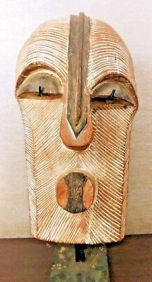 LG Antique AFRICAN Old CARVED Wood TRIBAL ART MUSEUM Sculpture MASK Statue