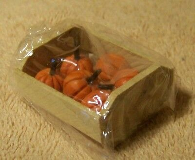 NEW Miniature CRATE of PUMPKINS For Doll House