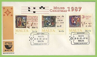Malta 1987 Christmas set on MPO First Day Cover, Valletta