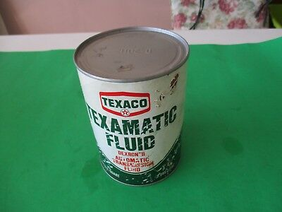 vtg Texaco Texamatic Fluid 1 full qt. can