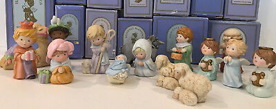 Avon Heavenly Blessings nativity 15 pc set Mary Joseph angel sheep camel donkey