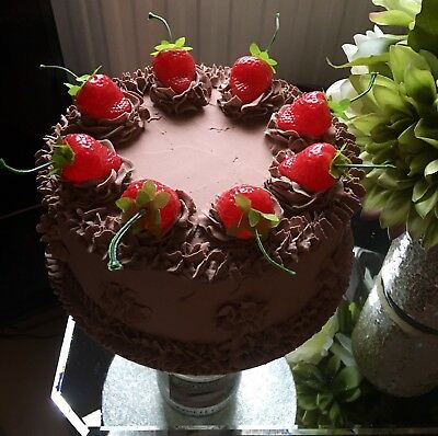 Fake/faux Artificial Chocolate 8in Cake