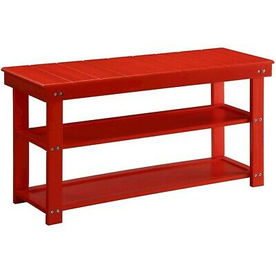 Convenience Concepts Oxford Utility Mudroom Bench, Red - 203300R