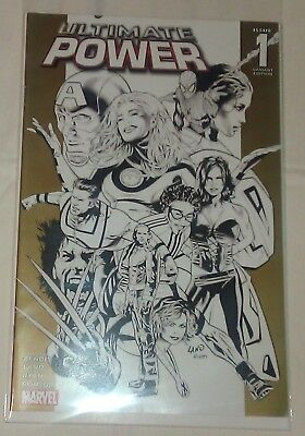 Ultimate Power #1 Black & White Variant VF/NM Brian Bendis Marvel Comics