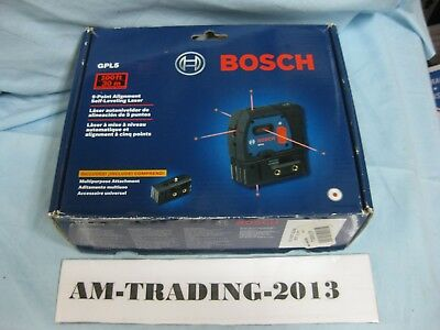 New Other BOSCH GPL5 5-POINT SELF LEVELING ALIGNMENT LASER